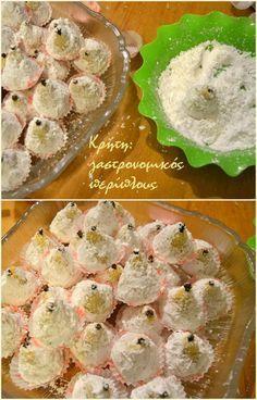 Κέρασμα για χαρές! Η πρώτη ανάρτηση μετά από χαρμόσυνα οικογενειακά γεγονότα είναι ως συνήθως γλυκό. Για την πανέμορφη μικρούλα που ήρθε στην οικογένειά μας διάλεξα ένα μικρό γλυκό – γλυκό , … Greek Sweets, Greek Desserts, Greek Recipes, Greek Cookies, Greek Pastries, Cookie Recipes, Dessert Recipes, Delicious Desserts, Cupcake Cakes
