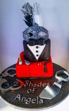 Fifty Shades of Grey birthday cake!