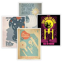 ThinkGeek :: Star Trek Retro Episode Posters Trouble with Tribbles