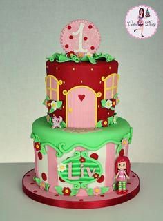 Livs Strawberry Shortcake Cake cakepins.com