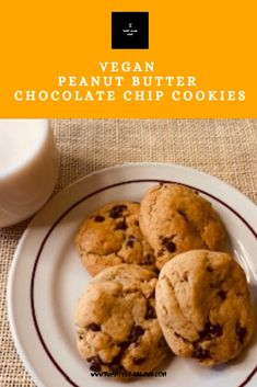 """Let's make the best of our """"shelter down"""" order and bake these yummy peanut butter chocolate chip cookies! You need something to snack on while enjoying a game night with your family. Vegan Snacks, Vegan Desserts, Delicious Desserts, Butter Chocolate Chip Cookies, Chocolate Peanut Butter, Baking Recipes, Baking Ideas, Easy Recipes, Healthy Recipes"""
