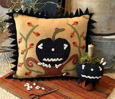 """NEW!  #279 """"Jack-Be-Spooky"""" Wool Appliqué Pattern"""