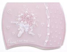 Baby pink #handmadecard from Pergamano! Shop the full #craft range now: http://www.createandcraft.tv/search/pergamano?fh_location=//CreateAndCraft/en_GB/$s=pergamano&gs=pergamano #papercraft