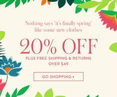 Boden - 20% OFF to kick-start spring
