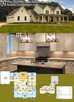 Plan 4122WM Country Home With Marvelous Porches Modern Farmhouse