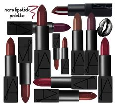 """Dark lipstick"" by rasaj ❤ liked on Polyvore featuring beauty and NARS Cosmetics"