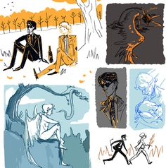good omens sketches by cj-ludd18