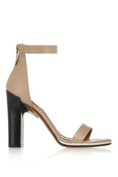 cf29ed29824e Givenchy - Ruby sandals with gold metal details in nude leather with  contrasting black heels