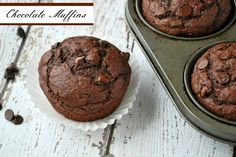 chocolate muffins! Get the recipe at buttercream bakehouse!