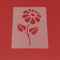 Schablone Blume Margerite Blüte - MF50 von Lunatik-Style via dawanda.com