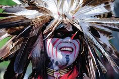 New Mexican culture - Ceremonial Native American Native American Face Paint, Native American Dress, Native American Warrior, Native American Regalia, Native American Quotes, Native American Beauty, American Spirit, American Clothing, Blackfoot Indian