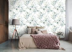 Botanical Wallpaper, Tapestry, Wallpapers, Bed, Furniture, Home Decor, Hanging Tapestry, Tapestries, Decoration Home