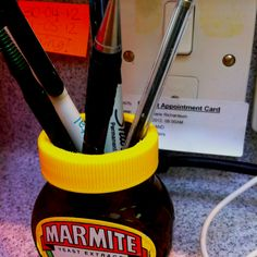 Recycled marmite pot! Marmite, Recycling, Crafty, Painting, Art, Art Background, Painting Art, Kunst, Paintings