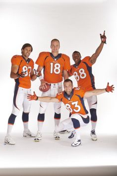 "I put this under ""things I love"" bit decided it belongs in ""dish-lish"" !!!!  Eric Decker, Peyton Manning, Wes Welker, and Demaryius Thomas"