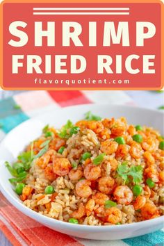 This super-delicious Asian shrimp fried rice made with mini shrimps and generous mix of veggies will never let you order from any of your favorite take-aways ever again! | shrimp fried rice recipe | shrimp fried rice recipe easy | chinese shrimp fried rice | healthy shrimp fried rice | how to make shrimp fried rice | #shrimpfriedrice #friedrice #asian #stirfry #shrimprecipe