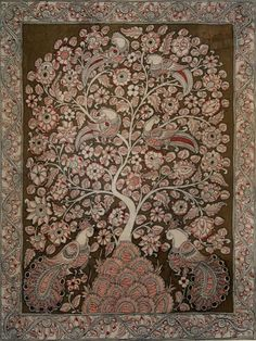 Super Ideas Tree Of Life Painting Indian 55 Super Ideas Tree Of Life Painting Super Ideas Tree Of Life Painting Indian Pichwai Paintings, Indian Art Paintings, Madhubani Art, Madhubani Painting, Traditional Paintings, Traditional Art, Kalamkari Painting, Silk Painting, Tree Of Life Painting