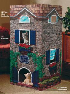 Dr Foster & Smith Corrugated Cat house - I GUARANTEE he'd still stuff himself into a shoebox! #stubbornfrankie
