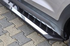 Choose to style your vehicle with a set of duralumin side steps, besides of their great appearance, you also benefit from enhanced protection. Tucson Tuning, Tucson Hyundai, Cars, Autos, Car, Automobile, Trucks