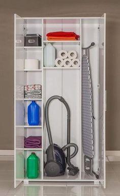 Ideas For Utility Closet Storage Ideas Utility Room Storage, Utility Closet, Laundry Room Organization, Laundry Room Design, Closet Storage, Laundry Rooms, Ironing Board Storage, Utility Room Ideas, Ironing Boards