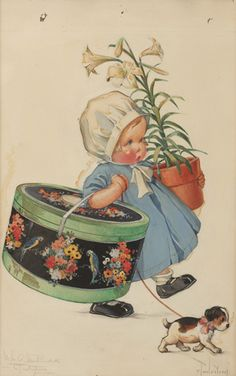 Baby With a Lily
