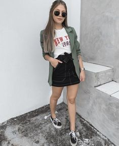 clothes for women,casual outfits,base layer clothing,casual outfits Mode Outfits, Skirt Outfits, Fashion Outfits, Womens Fashion, Blazer Outfits, Fashion Trends, Blazer Dress, Blazer Fashion, Classy Outfits