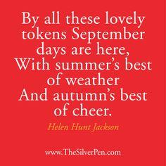 September days are here!
