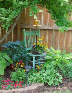 a little bit o' Shizzle: Easy Garden Chair Planter http://alittlebitoshizzle.blogspot.com/2012/06/easy-garden-chair-planter.html
