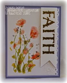 Stampin With Inky Fingers: Watercolor Florals #Rubbernecker #DTGDHousesBuiltofCards #DTGD