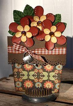 Fall flower pot card