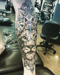 Lion mandala leg sleeve