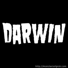 Charles Darwin T-Shirt in the stye of Danzig.  Fake band t-shirts for history's greatest minds