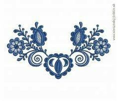 slovenske ludove malby - Google Search Gold Embroidery, Embroidery Patches, Embroidery Designs, Folk Art Flowers, Flower Art, Pisces Tattoos, Machine Embroidery Projects, Flower Patterns, Pattern Design