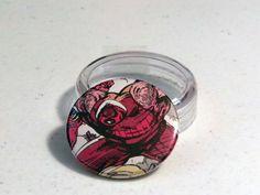"""Comic Book 1.5"""" Button// Juggernaut, $1.00"""