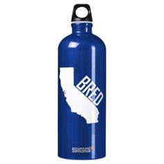 California Bred Aluminum Water Bottle - home gifts ideas decor special unique custom individual customized individualized