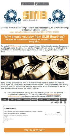 SMB Bearings Ltd Blog: SMB's August newsletter