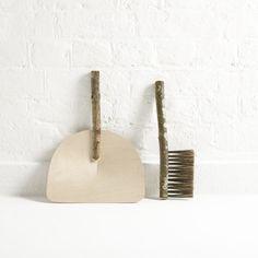 Table Dustpan & Brush by Geoffrey Fisher Design