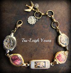 Vintage Rose and Lavender Watch Bracelet  Roses by tomrass4