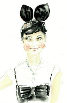 Fashion editor and stylist Eva Fontanelli by Karolina Kierat