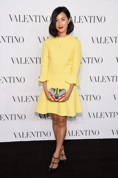 Nicole Warne attends the Valentino Sala Bianca 945 Event on December 10, 2014 in New York City.