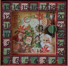 Kaisercraft advent calendar | Kaiser Craft advent calendar and Graphic 45 ... | Advent calendar ide ...