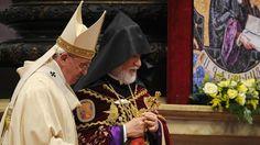 Papst Franziskus an der Jahrhundertfeier des «Metz Yeghem».