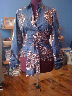 View details for the project The Long Awaited Ankara Wrap Top... on BurdaStyle.