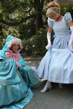 Disney Character Cosplay Cinderella and Fairy Godmother! Walt Disney, Disney Love, Disney Magic, Disney Pixar, Cinderella Cosplay, Disney Cosplay, Real Cinderella, Cinderella Fairy Godmother, Disney Parque