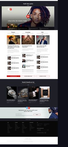 GQ Online Redesign Concept on Behance