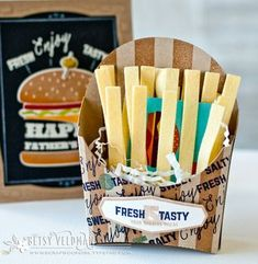 French Fry Gift Card Holder by Betsy Veldman for Papertrey Ink (April 2016)