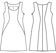 Платье - выкройка № 131 из журнала 2/2012 Burda – выкройки платьев на Burdastyle.ru