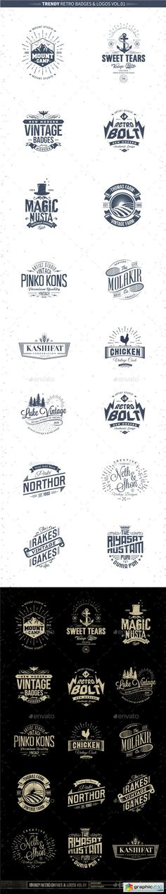 Trendy Retro Badges and Logos Vol.01