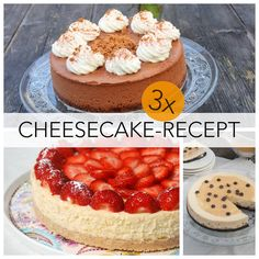 Wie wordt hier nou niet blij van? Niet één, niet twee, maar drie cheesecake-recepten op een rij! Welke kies jij?