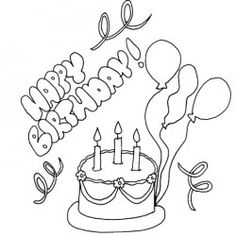 Picture Happy Birthday Coloring Pages Full Color