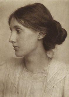 Virginia Woolf (née Stephen)  by George Charles Beresford  platinum print, July 1902